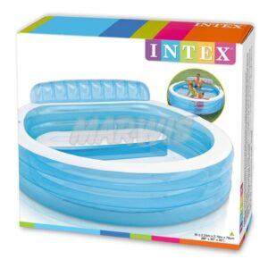Basen rodzinny z ławeczką INTEX